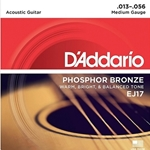 D'Addario EJ17 Phosphor Bronze Acoustic Guitar Strings, Medium, 13-56