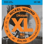 ConvOrphan D'Addario EXL110 Nickel Wound Electric Guitar Strings, Regular Light, 10-46