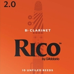 D'Addario Rico Bb Clarinet Reeds 10-Pack