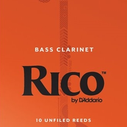 D'Addario Rico Bass Clarinet Reeds 10-Pack