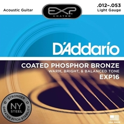 D'Addario EXP16 Coated Phosphor Bronze Acoustic Guitar Strings - Light